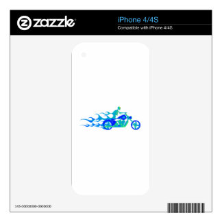 Skeleton on a Motorcycle Skin For The iPhone 4
