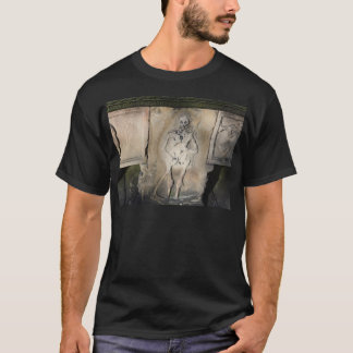 Skeleton on a Tombstone Tee Shirt