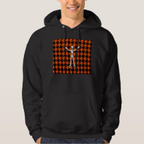 Skeleton On Halloween Houndstooth Hoodie
