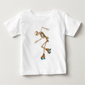 Skeleton on Roller Skates Baby T-Shirt