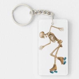 Skeleton on Roller Skates Key Chain
