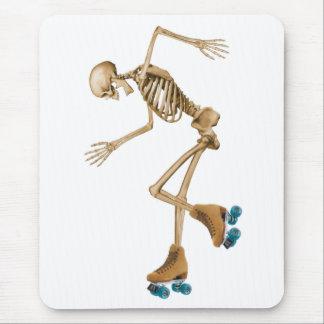 Skeleton on Roller Skates Mousepads