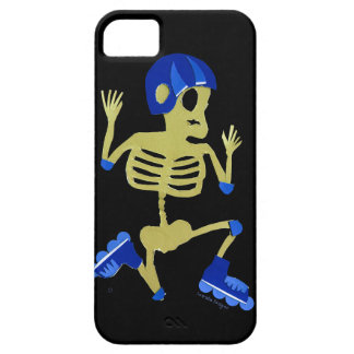 Skeleton on Rollerblades iPhone 5 Cover