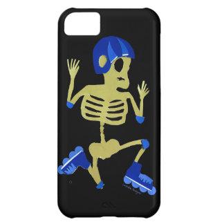 Skeleton on Rollerblades iPhone 5C Case