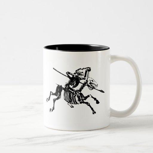 Skeleton on Skeleton Horse Coffee Mug