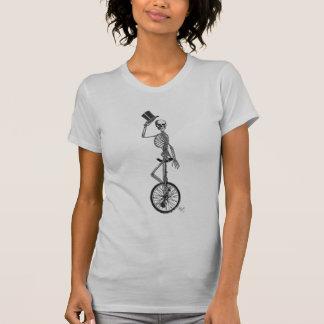 Skeleton on Unicycle T-Shirt
