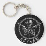 Skeleton Outlaw Key Rings Basic Round Button Keychain