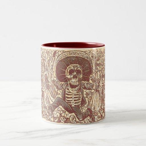 Skeleton Party! Two-Tone Coffee Mug