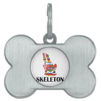 Skeleton Pet Tag