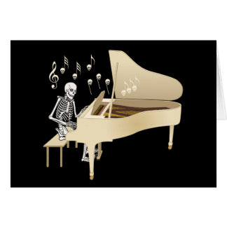 Skeleton Pianist Card