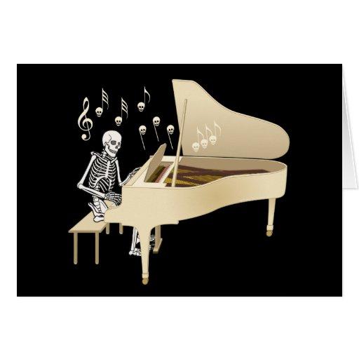 Skeleton Pianist Cards