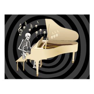 Skeleton Pianist Postcard