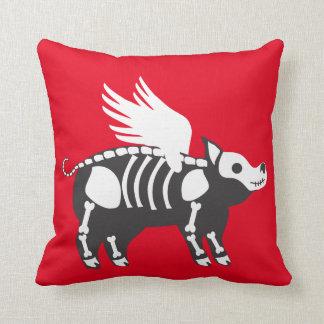 Skeleton pig pillow