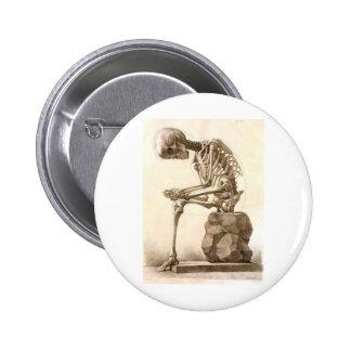 skeleton pinback button