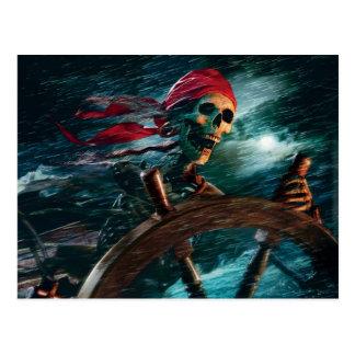 Skeleton Pirate Postcard