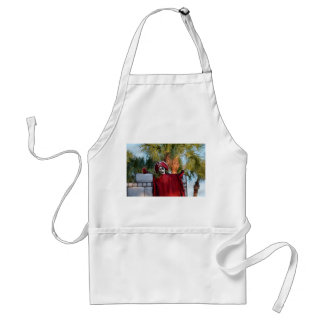 skeleton pirate red outfit buccaneer skull funny adult apron
