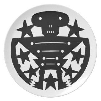 Skeleton Party Plates