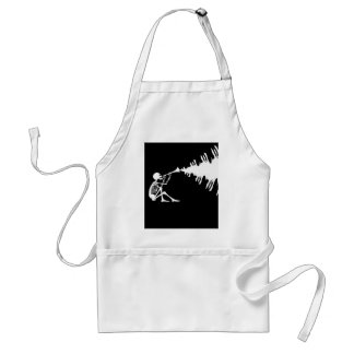 Skeleton Playing a Horn Making Music Adult Apron