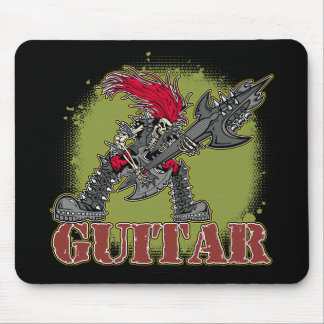 Skeleton Playing Electric Guitar Mouse Pad