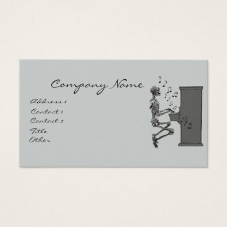 Skeleton Playing Piano Music Funny Business Card