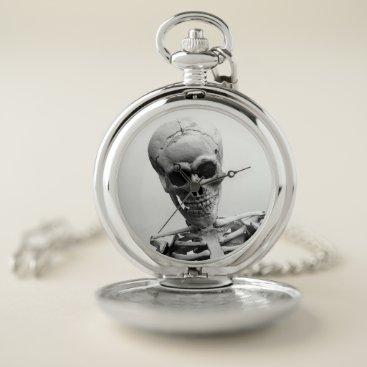 Halloween Themed Skeleton Pocket Watch