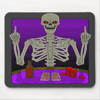 Skeleton Poker Flip Mouse Pads
