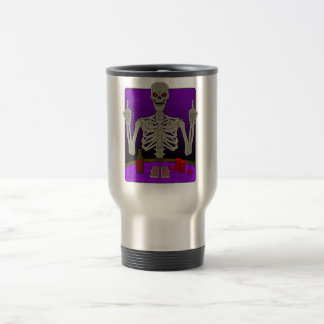 Skeleton Poker Flip Travel Mug