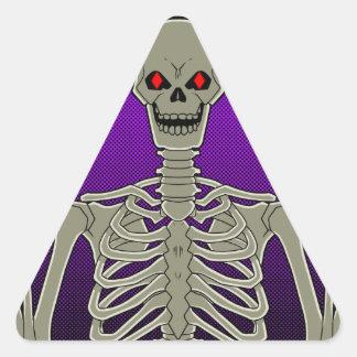 Skeleton Poker Flip Triangle Sticker
