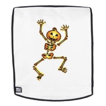 Halloween Themed Skeleton Pumpkin Halloween Funny Gift Backpack