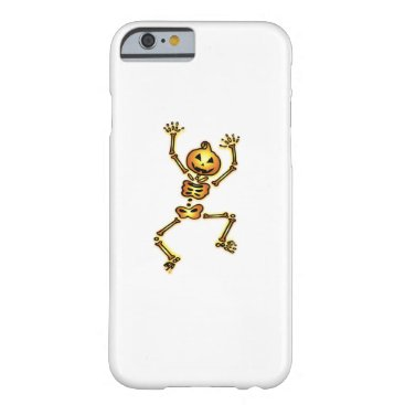 Halloween Themed Skeleton Pumpkin Halloween Funny Gift Barely There iPhone 6 Case
