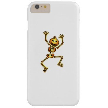 Halloween Themed Skeleton Pumpkin Halloween Funny Gift Barely There iPhone 6 Plus Case
