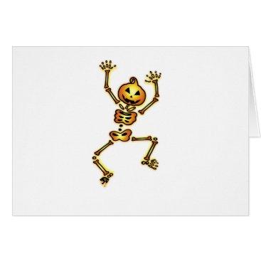 Halloween Themed Skeleton Pumpkin Halloween Funny Gift Card