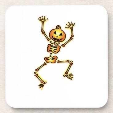Halloween Themed Skeleton Pumpkin Halloween Funny Gift Coaster