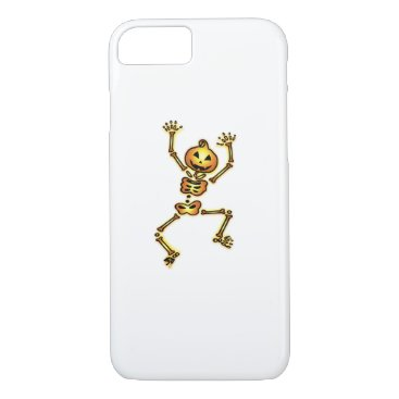 Halloween Themed Skeleton Pumpkin Halloween Funny Gift iPhone 8/7 Case