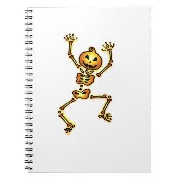 Halloween Themed Skeleton Pumpkin Halloween Funny Gift Notebook