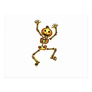 Halloween Themed Skeleton Pumpkin Halloween Funny Gift Postcard