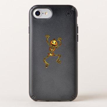 Halloween Themed Skeleton Pumpkin Halloween Funny Gift Speck iPhone Case