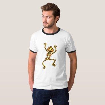 Halloween Themed Skeleton Pumpkin Halloween Funny Gift T-Shirt
