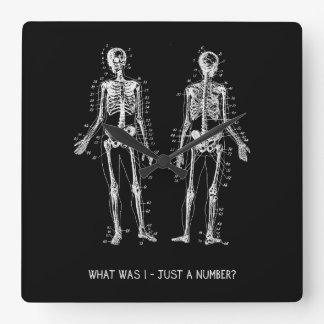 Skeleton Questions for Halloween Clock