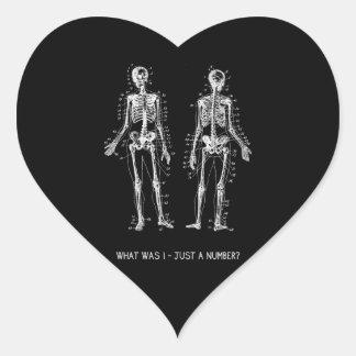 Skeleton Questions for Halloween Heart Sticker