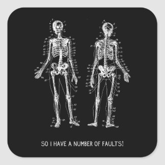 Skeleton Questions for Halloween Square Sticker
