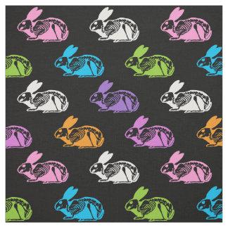 Skeleton Rabbits Pattern Fabric
