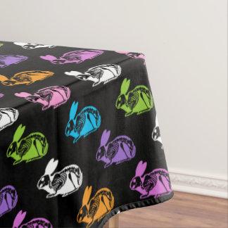 Skeleton Rabbits Pattern Tablecloth
