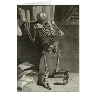 Skeleton Reading Card