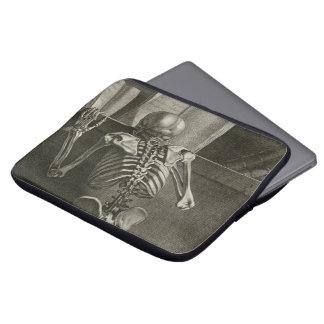 Skeleton Reading Laptop Sleeve