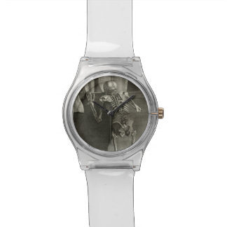 Skeleton Reading Wrist Watch