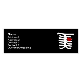 Skeleton Red Heart Business Card Templates