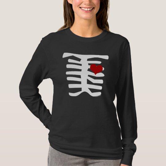 Skeleton Red Heart T-Shirt