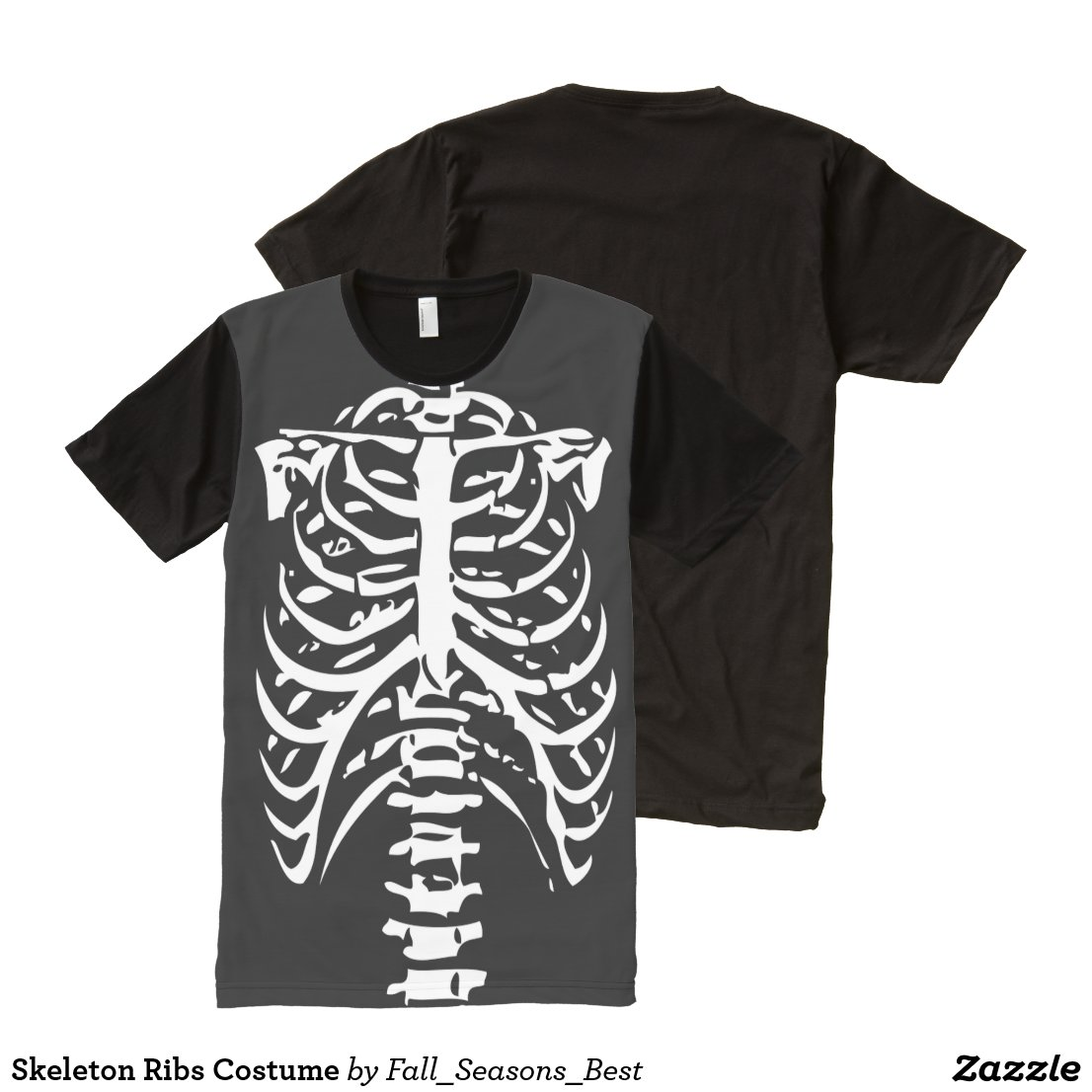 Skeleton Ribs Costume All-Over-Print Shirt