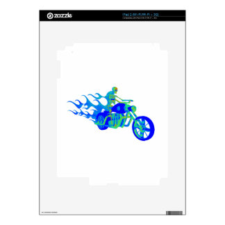 Skeleton Riding a Motorcycle iPad 2 Decals
